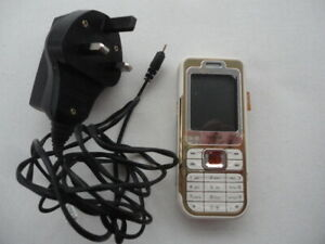 Nokia 7360 L'Amour Collection Fashion Phone with charger- Warm amber