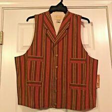 """Sass Cowboy"", ""Old West"" Drifter Vest, Brand New Size X-Large"