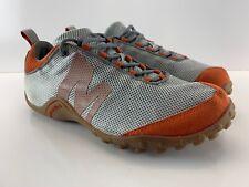 Merrell Shoes Men Sz 9.5 Sprint Streak Ventilator Warm Gray Orange