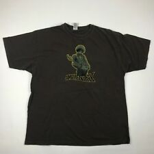 Jimi Hendrix Mens Brown Short Sleeve Graphic T Shirt sz. Xl