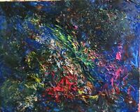"""""""Polluted Ocean"""", #michaelscottwoodcock  Art Original Oil Painting Canvas"""