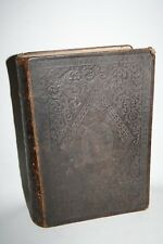 Holy Bible Victorian Book Self-explanatory Oxford University 1855 Leather Hard