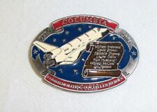 Rare 2003 Columbia Space Shuttle Belt Buckle NASA made in USA serialized NEW