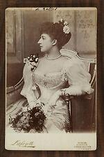 Maud de Galles reine de Norvège Maud of Wales queen of Norway Photo Cabinet card