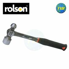Rolson Heavy Duty 24oz Rubber Shaft Solid Forged Ball Pein Hammer Mallet Tool