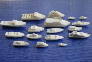 DS01 17pcs Resin Model Boats Ships Craft  HO N Z Scale