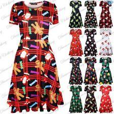 Unbranded Christmas Short Sleeve Dresses for Women
