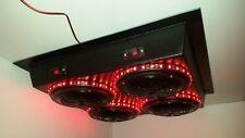 Universal Golf Cart UTV Stereo Radio Four Speaker LED Sound Box Marine Quad Pod!