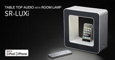 TEAC SR-LUXi i-Dock/FM clock-radio/Night-stand lamp (White) AUTHORIZED-DEALER