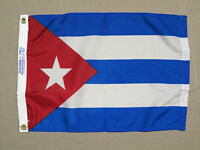 "Cuba Indoor Outdoor Dyed Nylon Boat Flag Grommets 12"" X 18"""