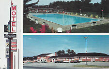 Motel Alouettes ROCK FOREST Quebec Canada Advertising Multiview Postcard