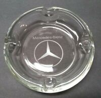 Genuine Mercedes-Benz Dealer Glass Ashtray Smoking Cigarette Rare