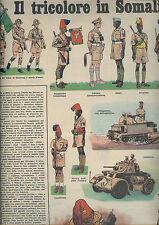 CORRIERE DEI PICCOLI anni 50 IL TRICOLORE IN SOMALIA soldatini coloniali Ascari