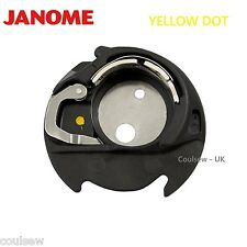 JANOME 100% GENUINE YELLOW DOT BOBBIN CASE Will Fit Janome MC9900 MC500E 400E