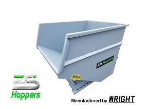 ES HOPPER Wright 3 Yd Self Dumping Hopper Forklift Dumpster Hopper LOCAL PICKUP