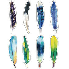 30 pcs/pack colorful paper feather bookmark stationerygift N8D