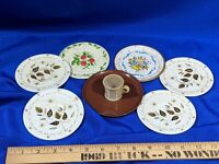 7 Tin Litho Saucer Toy VTG Plastic 1 Celluloid Tea Cup Set Lot
