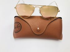 New Ray Ban Jr KIDS RJ9506S 249/2Y Gold with Gold Mirror Sunglasses 50mm w/Case