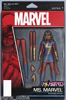 Ms Marvel #1 John Tyler Christopher Action Figure Variant Cover