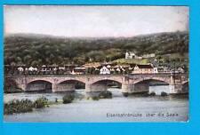 1064 ▶ AK Bad Kösen Eisenbahnbrücke über die Saale um 1925
