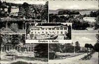 Grebin Schleswig-Holstein AK ~1960 Mehrbildkarte Erholungsheim Im stillen Tal