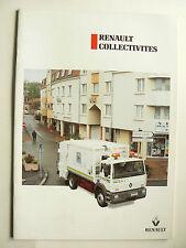 Catalogue Camion RENAULT Collectivités (2)  RVI 1994 brochure prospectus truck