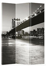 Manhattan Bridge Canvas Room Screen Dividers double - sided design