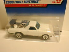 Hotwheels 2000 First Editions #8 `68 EL CAMINO  white   1968 chevy chevrolet