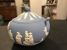 Early Wedgwood Jasperware Covered Sugar Bowl See Pictures