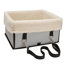 Husky Samoyed Large Dog Carrier Booster Seat Kennel Seat Belt Crate Grey L