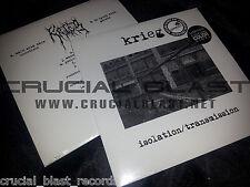 "KRIEG Isolation/Transmission 7"" EP ORANGE VINYL black metal/post-punk leviathan"