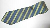 Brooks Brothers Tie Blue Yellow Stripe Luxury Necktie Woven 100% Silk Jacquard