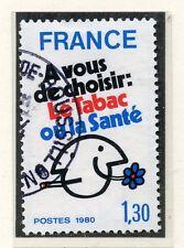 TIMBRE FRANCE OBLITERE N° 2080 LUTTE CONTRE LE TABAC /