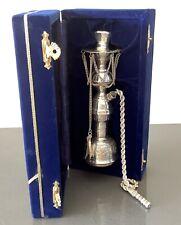 Egyptian Silver Miniature 16.5cm High in Blue Velvet Box 206g Inscription