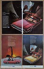 1969 Ford THUNDERBIRD advertisements x3, 2-door Landau T-Bird with sunroof