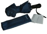 Volkswagen Passat Folding Blue Umbrella With LED Light VW Collection New Genuine