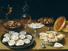 Osias beert Elder flamenca Platos ostras vino de frutas Arte Pintura Cartel bb6216a
