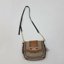 78ee3040932 Guess Bag Cross Body Gray Brown Quilted Small Chain Gold Purse Shoulder