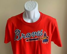 Men's Atlanta Braves Ronald Acuna Jr. Majestic Red Jersey T-Shirt New! | sz M
