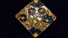 NIFTY Vintage Colourful CLOISONNE Rhombus Shape Goldtone Circa 1940s BROOCH/PIN