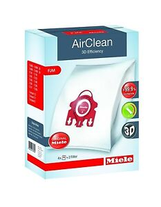 Miele FJM Vac Bags GENUINE AirClean 4-Bags+2 filters Damaged Packaging