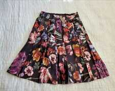 NEW WOMENS 2 6 14 J CREW PLEATED A-LINE SKIRT IN MIDNIGHT DUTCH FLORAL