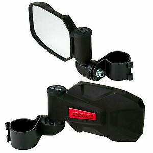 "Seizmik Strike Side View Breakaway Mirrors Pair Red Inserts 1.75"" Polaris RZR"