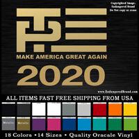 President Donald Trump Pence short Banner MAGA   sticker decal 2020