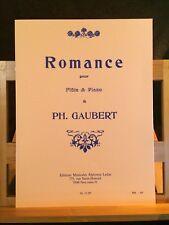 Philippe Gaubert Romance pour flûte et piano partition éditions Leduc