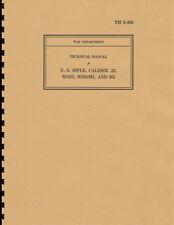 TM9 280 ~ M1922 / M2 .22 Cal Training Rifle Manual ~ WWII ~ Reprnt