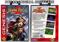 Shining Force II - Sega Genesis Custom Case *NO GAME*