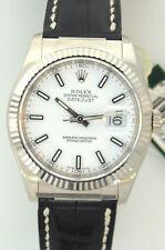 Rolex Ref 116139 Datejust Watch - 18k White Gold - Box /Manual/ Hangtag