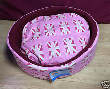 Ancol Union Jack Dog Cat Toy Breed Bed Pink 40cm Small