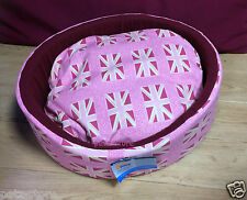 Dog Cat Bed Pink Ancol Union Jack Dog Cat Toy Breed Bed Pink 40cm Small